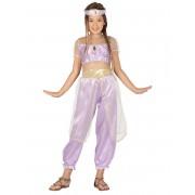 Disfarce princesa do deserto lilás menina - 7 a 9 anos (125-135 cm)