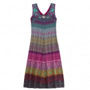 Gebreide jacquard jurk, gekleurd-motief 36/38