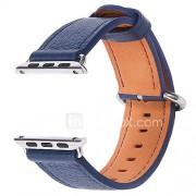 Horloge band voor appelwatch serie 1 2 38mm 42mm echt leder vervangende band armband