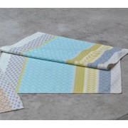 """David Fussenegger - Одеяло Lena 100 x 150 см """"Цветя"""" - Син,зелен,жълт"""