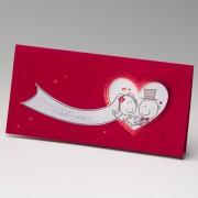 Invitación de boda coeur rouge