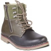 TEN Stylish And Elegant Boots For Men(Green)