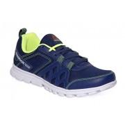 Reebok Men's Club Blue/Neon Yellow Running Shoes - 7 UK/India (40.5 EU)(8 US)