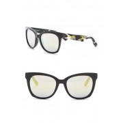 MCQ BY ALEXANDER MCQUEEN 54mm Squared Cat Eye Sunglasses SHNY BLACK
