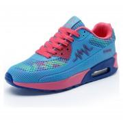 Zapatos Deportes Ocio Coreana Plano Para Correr Turismo Eestudiante Mujer-Azul