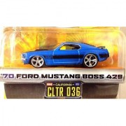 DUB CITY BIG TIME MUSCLE / '70 FORD MUSTANG BOSS 429 / Blue w Black Stripes / CLTR 036 / 1:64 Scale Die-Cast Collectible / JADA Toys 2005
