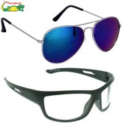 Elligator Reflected Aviator Sunglasses With black Wayfarer