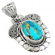 Pandantiv bijuterie din argint 925 cu turcoaz albastru