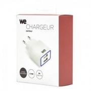 WE Chargeur secteur 2 ports USB - 2,1A + 1A - Auto-search blanc