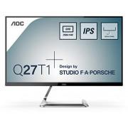 AOC Q27T1 Monitor, 68,5 cm (27 inch), HDMI, DisplayPort, 2560x1440, 5 ms reactietijd, zwart