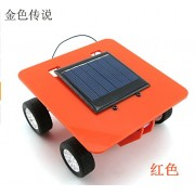 Generic green : F17917/20 Self assembly Mini Solar Powered DIY Car Kit ld Educational Toy Gadget Gift 4 color Hot Selling