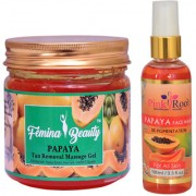 Femina Beauty Papaya Gel 400gm with Pink Root Papaya Face Wash 100ml