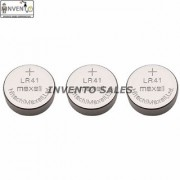 Invento 10pcs 1.5V LR41 Li-ion Battery (Non-Rechargeable) LR41 Button Coin Cell Battery for Calculator Watch Electonic D