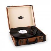 Auna Jerry Lee tocadisco retro giradiscos vintage LP USB marrón claro (TTS6-JERRY-LEE-BR)