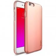 Husa Protectie Spate Ringke Slim Rose Gold plus folie protectie display pentru Apple iPhone 6S Plus