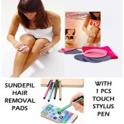 Sundepil Hair Removal Pads with 1 Pcs Touch Stylus Pen