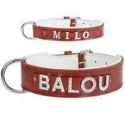 Animal Gear Europe GmbH MyName leren halsband, rood
