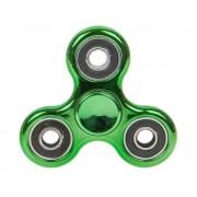 Fidget Spinner metallic look, verde