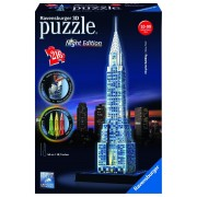 Ravensburger Puzzle 3D Cladirea Chrysler, editie luminoasa, 216 piese
