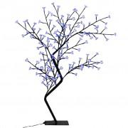 vidaXL Дърво с черешови цветчета, LED синя светлина, 120 см