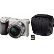 SONY Alpha ILCE-6000L systeemcamera, 16-50 mm zoom, incl. tas, 32 GB SD-kaart