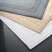 Rhomtuft Badteppich Grace, 60 x 90 cm, Badematte, 100% Baumwolle, Weiß