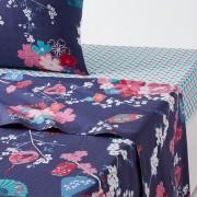 La Redoute Interieurs Lençol em algodão, MISS SHANGHAIEstampado Azul-Escuro- 180 x 290 cm