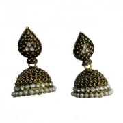 PEARL Jhumka Earrings Small Silver Jhumkas ethnic tribal earrings temple Jewelry