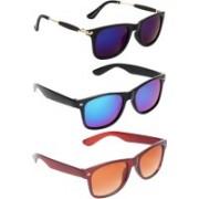 Criba Wayfarer, Retro Square, Retro Square Sunglasses(Multicolor, Multicolor, Brown)