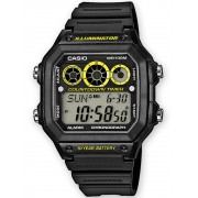 Ceas barbatesc Casio AE-1300WH-1AVEF Collection Cronograf 10 ATM 42 mm