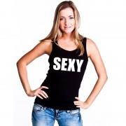 Shoppartners Sexy mouwloos shirt zwart voor dames