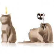 54 Celsius PyroPet KISA (Cat) decorative candle grey 17 cm