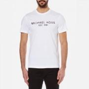 Michael Kors Men's Kors Logo Crew Neck T-Shirt - White - L - White