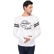 TRENDS TOWER Full Sleeve Round Neck Thumb Ring Mens T-Shirt White Color Men Ride Enfield Graphics Print