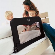 Protectie laterala pliabila pentru pat bebe negru Baby Dan