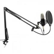 Vonyx Studio kit micro studio d'enregistrement à large membrane avec perchette