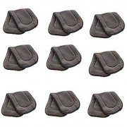 Kuhu Creations Washable Extra Thick 5 Layers Reusable Cloth Insert for Diaper/Nappy. (Grey 9 Unit)