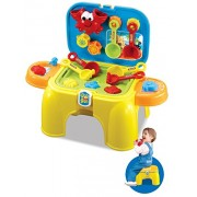 Toys Bhoomi 2 in 1 Carry-on Beach Sand & Water Play Set Toy with Tool Storage Chair