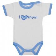 Body cu maneca scurta, I love mom, Basic