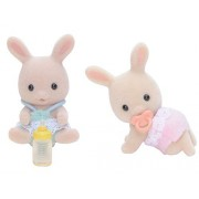 Sylvanian Families Doll Milk Rabbits Twins U-87