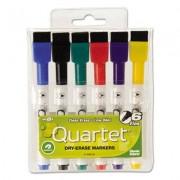 Low-Odor Rewritables Dry Erase Mini-Marker Set, Fine Point, Classic, 6/set