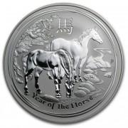 Lunární série II. stříbrná mince 1 AUD Year of the Horse Rok koně 1 Oz 2014