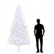 vidaXL Изкуствено коледно дърво, 300 см, бяло