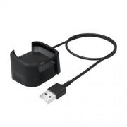 Okosóra USB töltő - FEKETE - 1,2m - Fitbit Versa