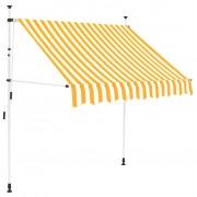 vidaXL vidaXL Copertină retractabilă manual, 150 cm, dungi galben și alb