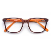 The Collection Pure and Simple-Matte Chestnut Orange Tortoise Glasögon