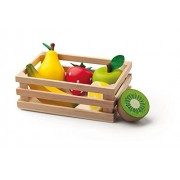 Woodyland Pretend Play Fruit Crate with Fruits (6-Piece)
