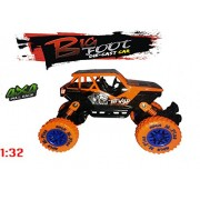 US1984 Imported 1:36 4WD Rally Cars Crawler Off Road Race Monster Truck, Metal Car, Big Rubber Tires, Metal Suspension (Orange)