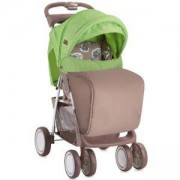 Детска количка с покривало Foxy - Beige Green Lambs, Lorelli, 0740178