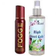 Fogg Monarch Fragrant Body Spray 100ml and Pink Root High Street Gals Fragrance body Spray 200ml Pack of 2